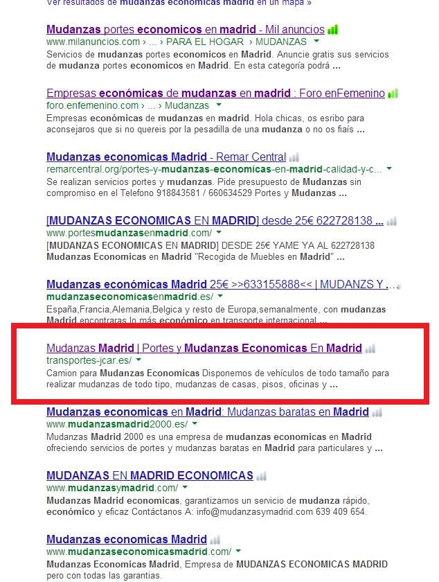 Resultados de Mudanzas En Madrid